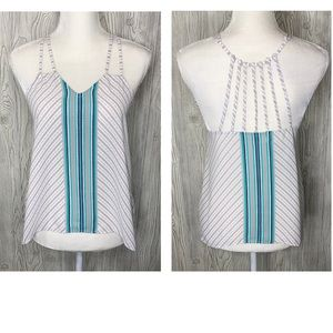 2/$10 NWT Maurices gray & white strappy tank top S